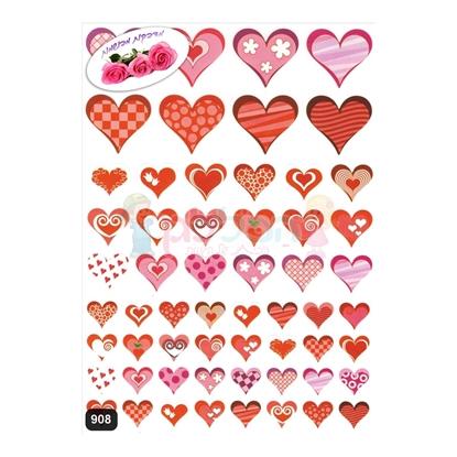 תמונה של מדבקות פרוצס לבבות אדום ריחני 10 דף
