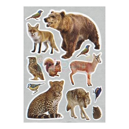 תמונה של מדבקות פרוצס חיות יער חתוכות בשטנץ 10 דף