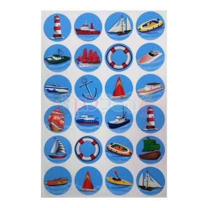 תמונה של מדבקות פרוצס אוניות וסירות 10 דף