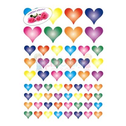 תמונה של מדבקות פרוצס לבבות בועה ריחני 10 דף