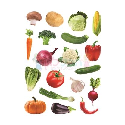 תמונה של מדבקות פרוצס ירקות חתוך בשטנץ 10 דף