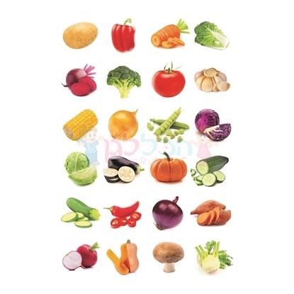 תמונה של מדבקות פרוצס ירקות 10 דף