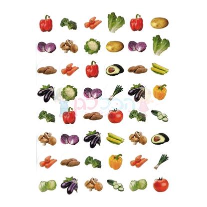 תמונה של מדבקות פרוצס ירקות קטן 10 דף