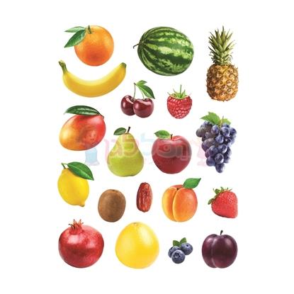 תמונה של מדבקות פרוצס פירות חתוך בשטנץ 10 דף