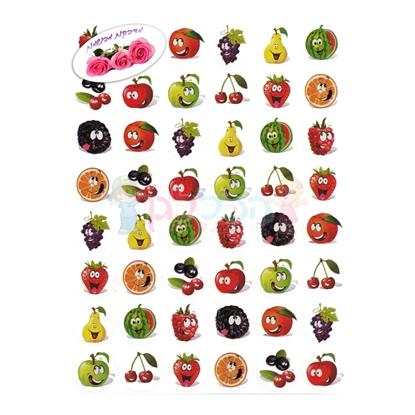 תמונה של מדבקות פרוצס פירות חייכני ריחני 10 דף