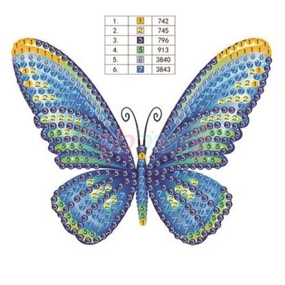 תמונה של יצירה הדבקת יהלומים פרפר