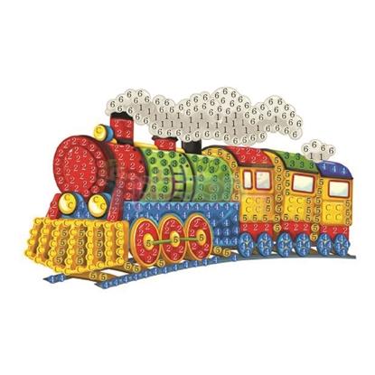 תמונה של יצירה הדבקת יהלומים רכבת