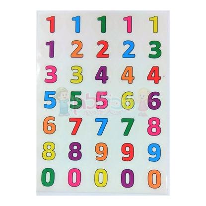 תמונה של מדבקות מספרים PVC שקוף - 10 דף