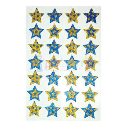 תמונה של מדבקות גליטר כוכבים