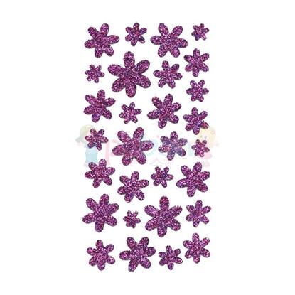 תמונה של מדבקות גליטר פרחים