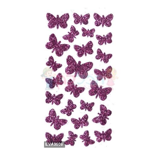 תמונה של מדבקות גליטר פרפרים