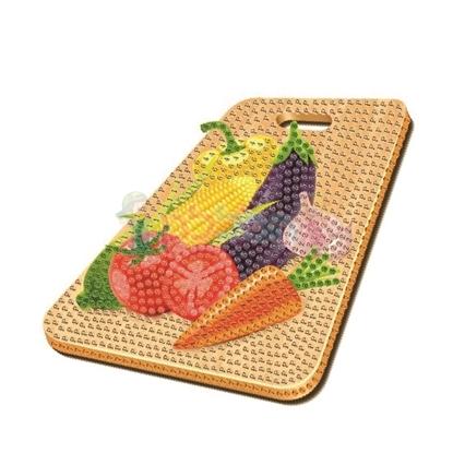 תמונה של יצירה הדבקת יהלומים ירקות