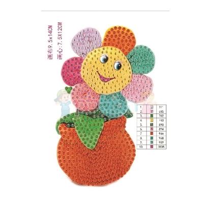 תמונה של יצירה הדבקת יהלומים פרח מחייך