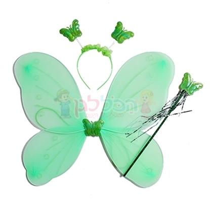תמונה של סט תחפושת פרפר ירוק
