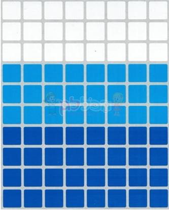 תמונה של מדבקות פסיפס כחול לבן 10 דף