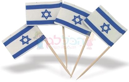 תמונה של דגל לאום קיסם קטן 100 יחי'