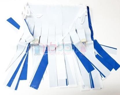 תמונה של דגל שובלים כחול לבן 4 מטר