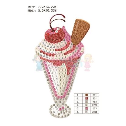 תמונה של יצירת יהלומים גלידה