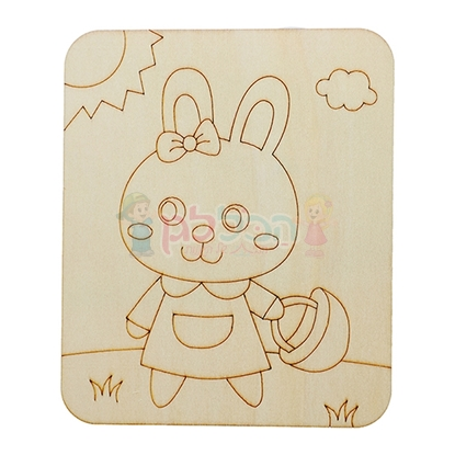 תמונה של כן ציור לצביעה ארנב