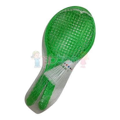 תמונה של זוג מטקות פלסטיק ברשת
