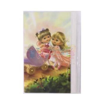 תמונה של מחברת קשר בנות עם עגלת בובה (דגם 22)