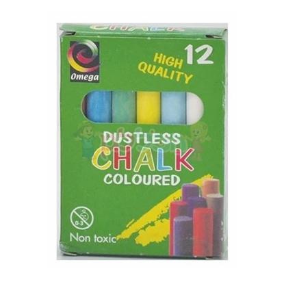 תמונה של 12 יח' גירים צבעוניים ללוח אומגה